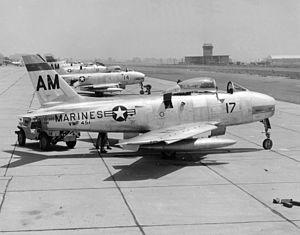 VMFAT-501 - VMF-451 FJ-2 Furies, in 1954.