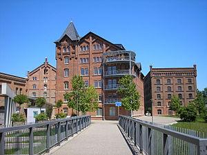 Pößneck - Image: Fabriken Pößneck