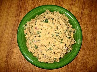 Falafel - Image: Falafel mixture