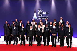 "37th G8 summit - Traditional ""family photo"" at the G8 summit meeting in Deauville"