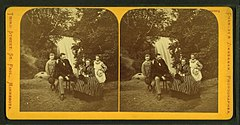 Family portrait in front of Minnehaha Falls, by Zimmerman, Charles A., 1844-1909.jpg