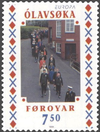 Ólavsøka - Ólavsøka – Clergymen and politicians on parade on 29 July
