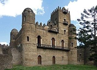 Fasil Ghebbi Fortress in Amhara Region, Ethiopia