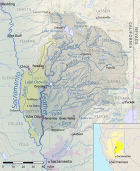 Map Of California Yuba City.Feather River Wikipedia