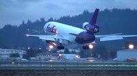 File:FedEx MD-10-10 (DC-10) (N390FE) Landing Portland Airport (PDX).ogv
