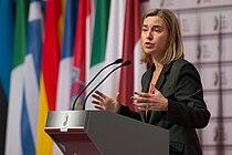 Federica Mogherini - Starpparlamentārā konference par kopējo ārpolitiku un drošības politiku, kā arī kopējo drošības un aizsardzības politiku (16109483144).jpg