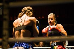 Felice Herrig fighting at Muay Thai Mayhem XIV.jpg