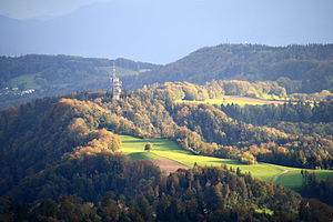 Felsenegg - Felsenegg as seen from Uetliberg