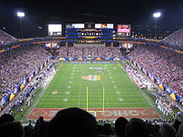 The playing field of the Fiesta Bowl 2006 in t...