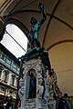 Firenze - Florence - Piazza della Signoria - View South & Up on 'Perseus with the Head of Medusa' 1554 by Benvenuto Cellini.jpg