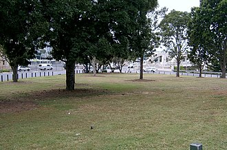 First Brisbane Burial Ground - First Brisbane Burial Ground, view from Eagle Terrace, 2010