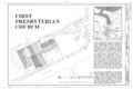 First Presbyterian Church, 125 East Main Street, Huntington, Suffolk County, NY HABS NY,52-HUNTO,1- (sheet 1 of 7).png