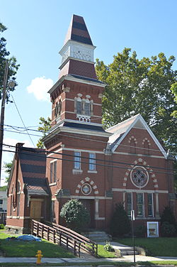 First Universalist Church, a historic site in the borough
