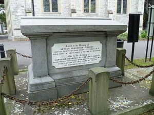 Henry FitzRoy (politician) - FitzRoy family grave, City of Westminster Cemetery, Hanwell.