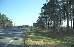 Jefferson County, Florida - Entering Jefferson County on US 19 from Thomas County, Georgia