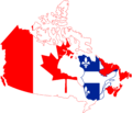 Flag Map of Canada (with Independent Quebec).png