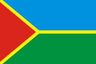 Kirovske, Crimea - Image: Flag of Kirovske Kirovske Raion