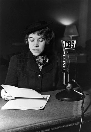 Hallie Flanagan - Flanagan on CBS Radio for the Federal Theatre of the Air (1936)