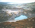 Flooded pit at the Penrhyn Quarry from the Fronllwyd - geograph.org.uk - 314216.jpg