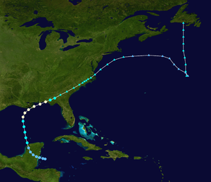 Hurricane Flossy (1956) - Image: Flossy 1956 track
