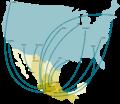 Flujo de Remesas Entre México y Estados Unidos (2006-2007).png