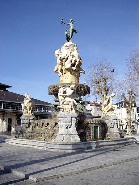 Duvignau Monumental Fountain, Tarbes, Hautes-Pyrénées, France