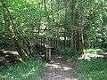 Footbridge over Cob Brook in Hoathly Shaw wood - geograph.org.uk - 1438650.jpg
