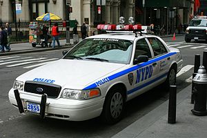 Law enforcement in the United States - A Ford Crown Victoria Police Interceptor of the New York City Police Department