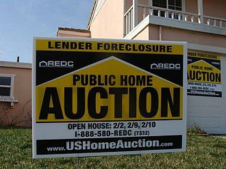 110th United States Congress - House in Salinas, California under foreclosure, following the bursting of the U.S. real estate bubble.