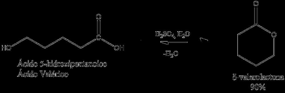 Formación de una lactona a partir de un ácido hidroxicarboxílico.