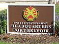 Fort Belvoir Headquarters sign.jpg