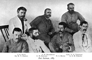 James George Scott - J. G. Scott (top left) and colleagues at Fort Stedman, 1889