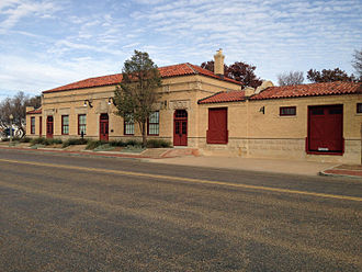 Buddy Holly Center - The Fort Worth and Denver South Plains Railway Depot building in 2013