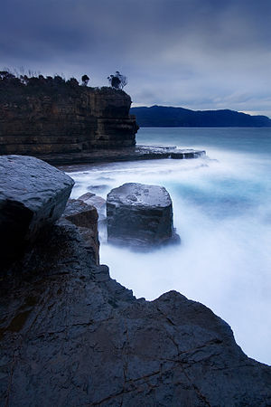 Tasman Peninsula - Fossil Bay at sunset.