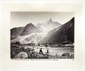 Fotografi av berget Aiguille du Dru och glaciären des Bois - Hallwylska museet - 103140.tif