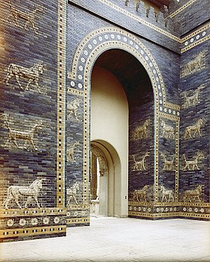 Neo-Babylonian Empire - The Ishtar Gate of Babylon as reconstructed in the Pergamon Museum in Berlin
