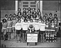 Four girls teams in Tri-State Indian School basketball tournament. - NARA - 285699.jpg