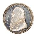 Framsida av medalj med bild av Laurentius Petri i profil - Skoklosters slott - 99346.tif
