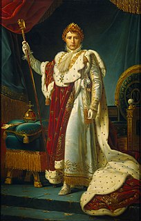 Napoleon I as Emperor painting by François Gérard
