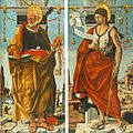 Francesco del Cossa - Griffoni Polyptych - St Peter and St John the Baptist - WGA05382.jpg