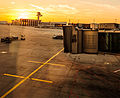 Frankfurt Airport slows down as the sun sets (8161433150).jpg