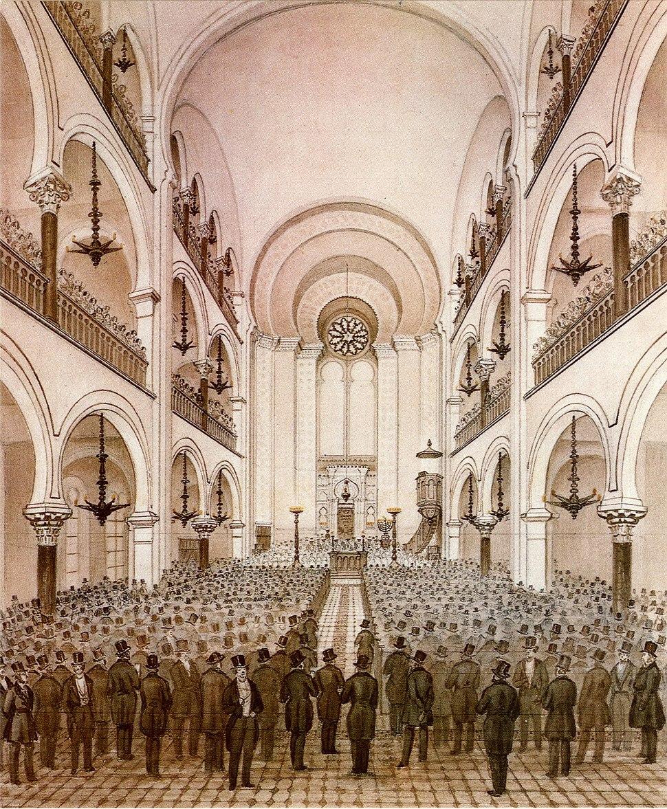 Frankfurt Hauptsynagoge 1860