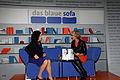 Frankfurter Buchmesse 2011 - Das Blaue Sofa - Elsner und Braun 1.JPG