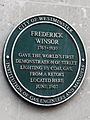 Frederick Winsor 1763-1830 gave the world's first demonstration of street lighting by coal gas from a retort located here June 1807.jpg