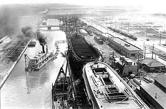 Keating Channel - During World War One a small shipyard on the Keating Channel built vessels for the war effort.