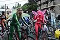 Fremont Solstice Parade 2011 - cyclists prepare 20.jpg