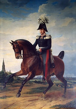 Frederick William III of Prussia - Equestrian portrait of Frederick William III by Franz Krüger (1831)