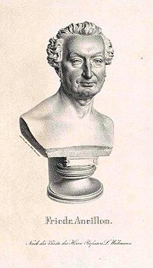 Friedrich Ancillon, Büste von Ludwig Wilhelm Wichmann (Quelle: Wikimedia)
