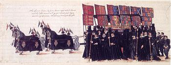 Elisabeth's funeral procession, contemporary depiction