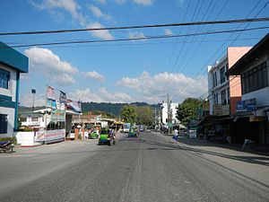 Naguilian, La Union - Naguilian town center along the Naguilian Road